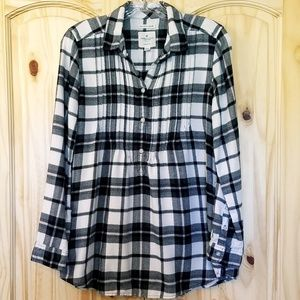 AE | Plaid Tunic Top With Pockets